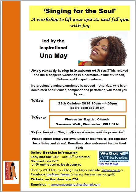 Una May Worcester flyer